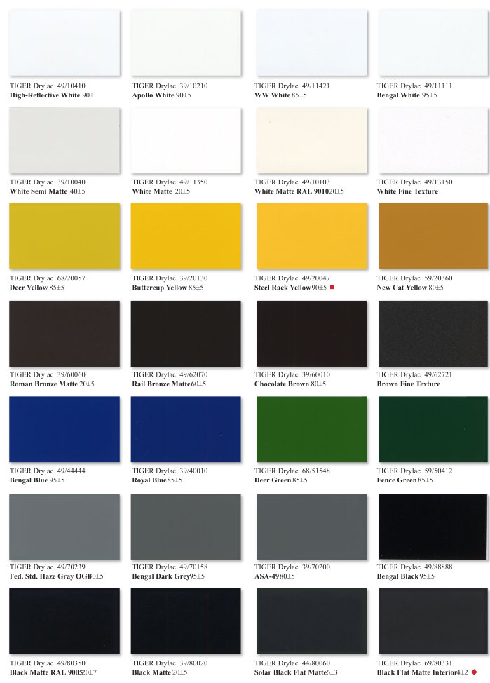 Essentials Color Chart Page 1