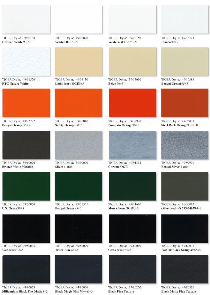 Essentials Color Chart Page 2