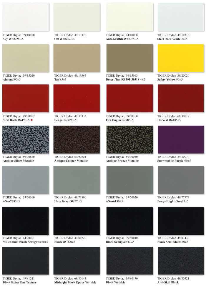 Essentials Color Chart Page 3
