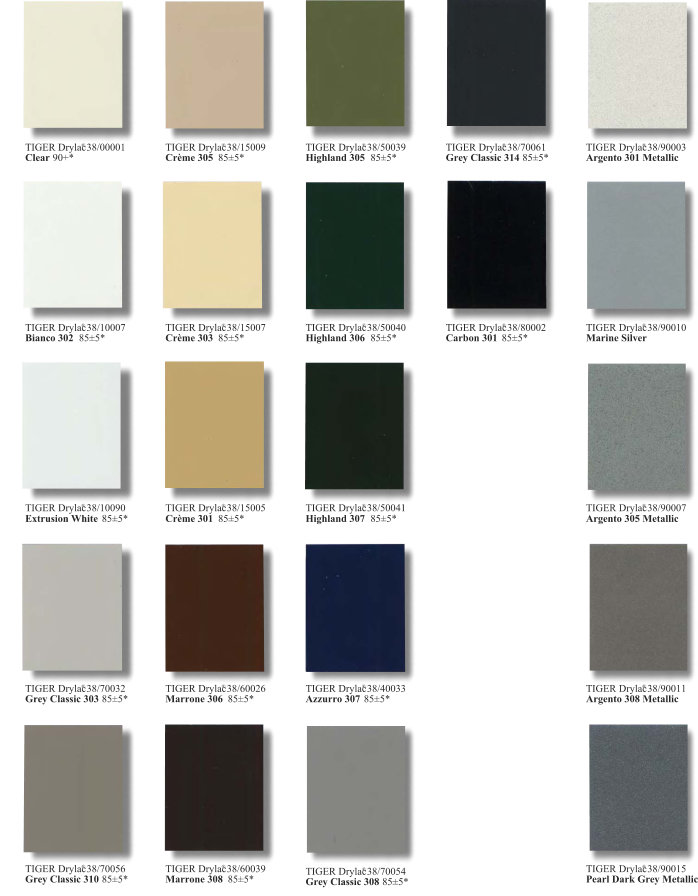 Series 38 Super Durable Color Chart Page 2