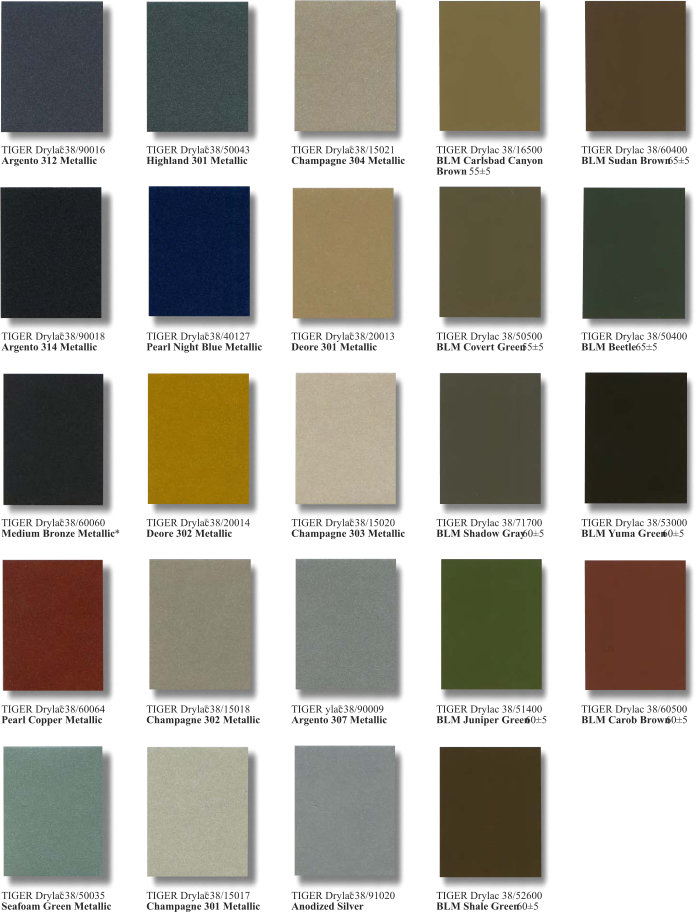 Series 38 Super Durable Color Chart Page 3