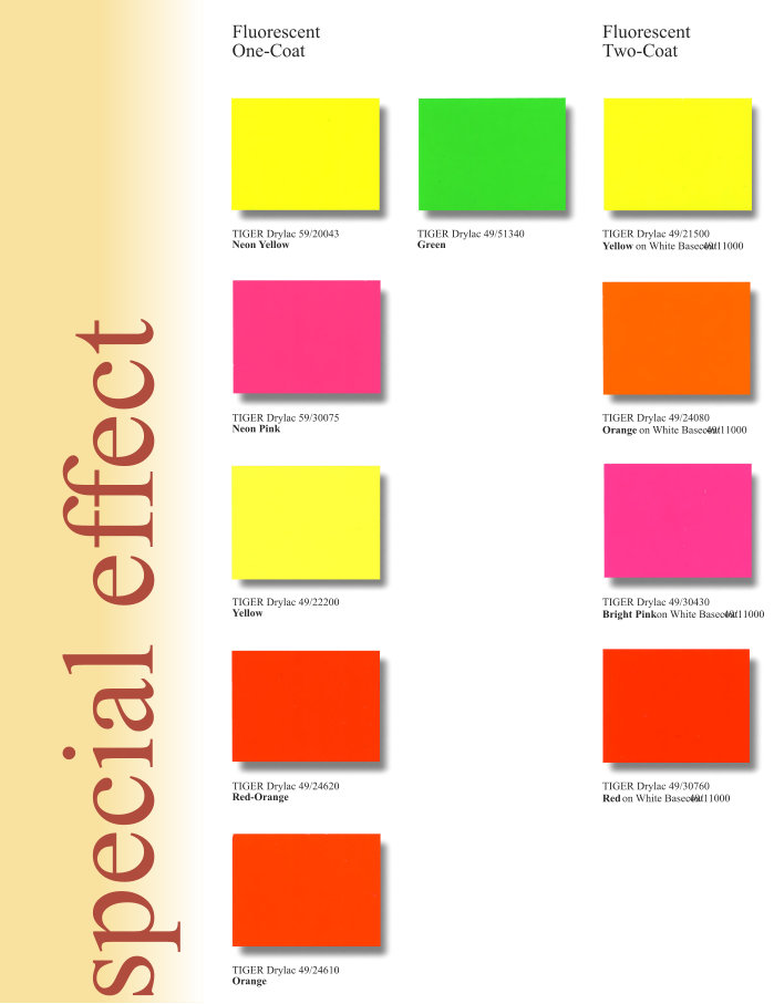 Special Effect Color Chart Page 1